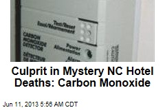 NC Hotel Deaths Culprit: Carbon Monoxide
