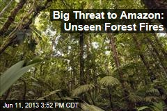 Big Threat to Amazon: Unseen Forest Fires