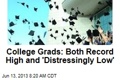 College Grads: Both Record High and 'Distressingly Low'