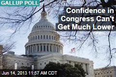 Confidence in Congress Can't Get Much Lower