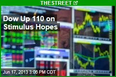 Dow Up 110 on Stimulus Hopes