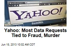 Yahoo: Most Data Requests Tied to Fraud, Murder