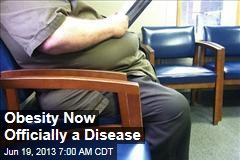 Obesity Now Officially a Disease