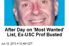 Sex-Crime Ex-Prof Busted After 1 Day on Wanted List