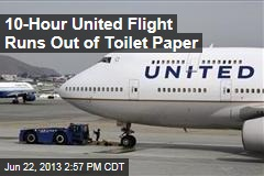 10-Hour United Flight Runs Out of Toilet Paper