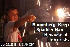 Bloomberg: Keep Sparkler Ban— Because of Terrorists