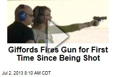 Giffords Fires Gun for First Time Since Being Shot