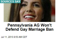 Pennsylvania AG Won't Defend Gay Marriage Ban