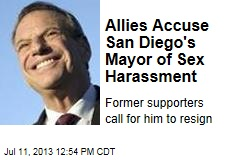 Allies Accuse San Diego's Mayor of Sex Harassment