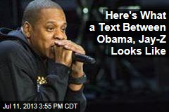 Here's What a Text Between Obama, Jay-Z Looks Like