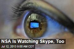 NSA Is Watching Skype, Too