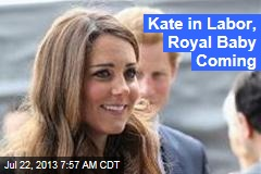 Kate in Labor in London Hospital