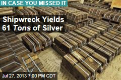 Shipwreck Yields 61 Tons of Silver Worth $35M