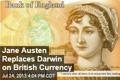 Jane Austen Replaces Darwin on British Currency