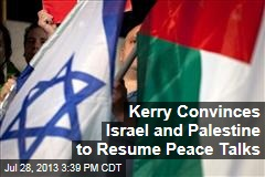 Israel-Palestine Peace Talks Will Resume Tomorrow