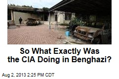 So What Exactly Was the CIA Doing in Benghazi?