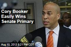 Cory Booker Easily Wins Senate Primary