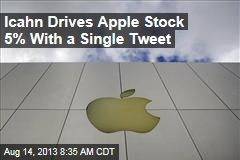 Icahn Drives Apple Stock 5% With a Single Tweet