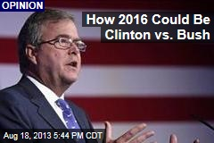 How 2016 Could be Clinton Vs. Bush