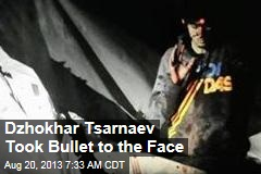 Dzhokhar Tsarnaev Took Bullet to the Face