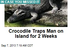 Crocodile Traps Man on Island for 2 Weeks