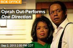Oprah Out-Performs One Direction