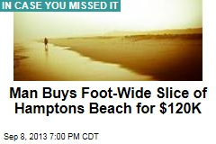 Man Buys Foot-Wide Slice of Hamptons Beach for $120K