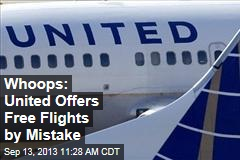 Whoops: United Offers Free Flights by Mistake
