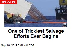 One of Trickiest Salvage Efforts Ever Begins