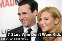 7 Stars Who Don't Want Kids