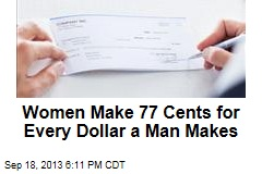 Women Make 77 Cents for Every Dollar a Man Makes