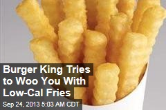 Burger King to US: Do You Want Low-Cal Fries With That?