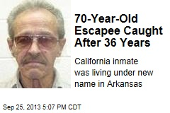 70-Year-Old Escapee Caught After 36 Years