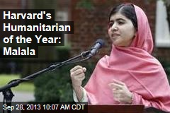Harvard's Humanitarian of the Year: Malala