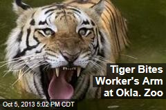 Tiger Bites Worker's Arm at Okla. Zoo