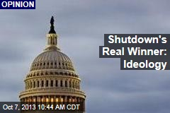 Shutdown's Real Winner: Ideology