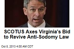 Va. Loses Bid to Bring Back Anti-Sodomy Law