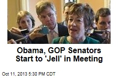Obama, GOP Senators Start to 'Jell' in Meeting