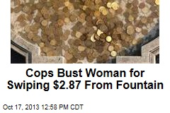 Cops Bust Woman for Swiping $2.87 From Fountain