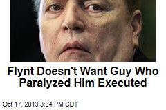 Flynt Doesn't Want Guy Who Paralyzed Him Executed