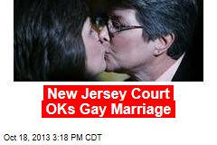 New Jersey Court OKs Gay Marriage