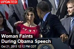 Woman Faints During Obama Speech