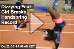 Dizzying Feat: Girl Breaks Handspring Record