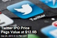 Twitter IPO Price Pegs Value at $12.5B