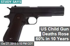US Child Gun Deaths Rose 60% in 10 Years