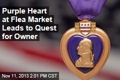 Purple Heart at Flea Market Leads to Quest for Owner