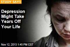 Depression Might Take Years Off Your Life