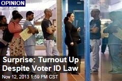 Surprise: Turnout Up Despite Voter ID Law