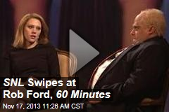 SNL Swipes at Rob Ford, 60 Minutes