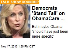 Democrats 'Stand Tall' on ObamaCare ...